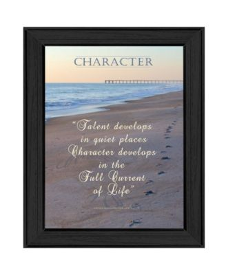 """Character By Trendy Decor4U, Printed Wall Art, Ready to hang, Black Frame, 15"""" x 19"""""""