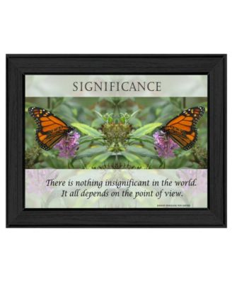 """Significance By Trendy Decor4U, Printed Wall Art, Ready to hang, Black Frame, 14"""" x 10"""""""