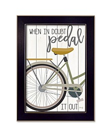 """When In Doubt By Marla Rae, Printed Wall Art, Ready to hang, Black Frame, 14"""" x 20"""""""
