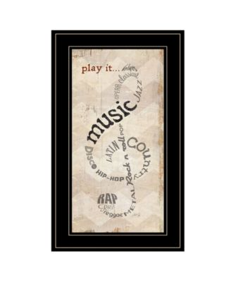 """Play It by Marla Rae, Ready to hang Framed Print, Black Frame, 12"""" x 21"""""""