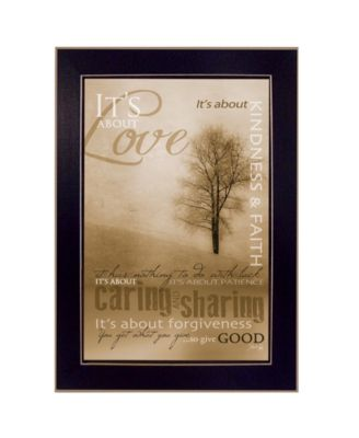 """Its About Love By Marla Rae, Printed Wall Art, Ready to hang, Black Frame, 14"""" x 10"""""""