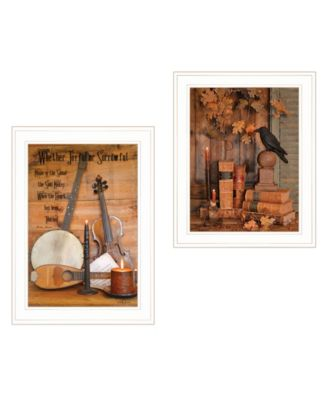 """Music / Nevermore 2-Piece Vignette by Billy Jacobs, White Frame, 15"""" x 21"""""""