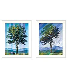 """Trendy Decor 4U Catching Light as Time Passes 2-Piece Vignette by Tim Gagnon, White Frame, 15"""" x 19"""""""