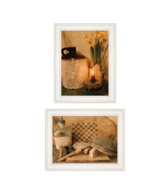 """Daffodils Cider 2-Piece Vignette by Anthony Smith, White Frame, 15"""" x 21"""""""