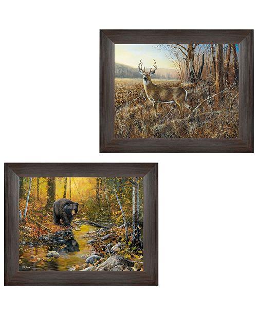 "Trendy Decor 4U Trendy Decor 4U Wildlife Autumn Collection By Jim Hansen, Printed Wall Art, Ready to hang, Brown Frame, 19"" x 15"""