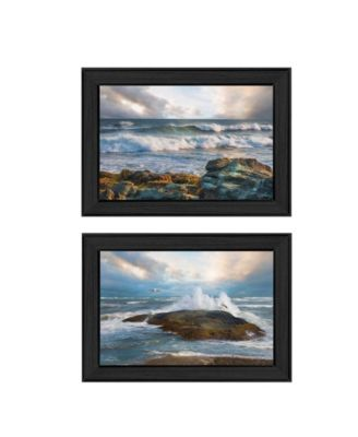 """Whitecaps Collection By Robin-Lee Vieira, Printed Wall Art, Ready to hang, Black Frame, 21"""" x 15"""""""