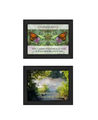 Beauty Collection By Trendy Decor4U, Printed Wall Art, Ready to hang, Black Frame, 20