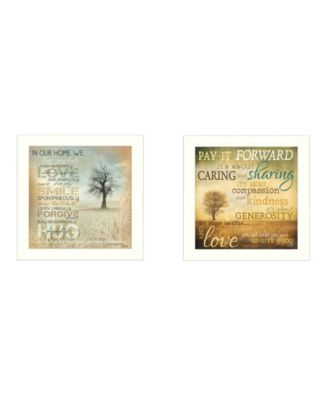 """Meaning Collection By Marla Rae, Printed Wall Art, Ready to hang, White Frame, 40"""" x 20"""""""
