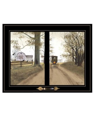 """Heading Home by Billy Jacobs, Ready to hang Framed Print, Black Window-Style Frame, 19"""" x 15"""""""