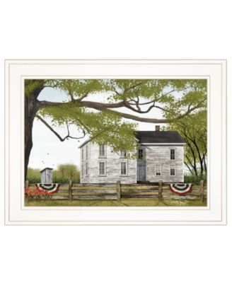 """Sweet Summertime House by Billy Jacobs, Ready to hang Framed Print, White Frame, 19"""" x 15"""""""