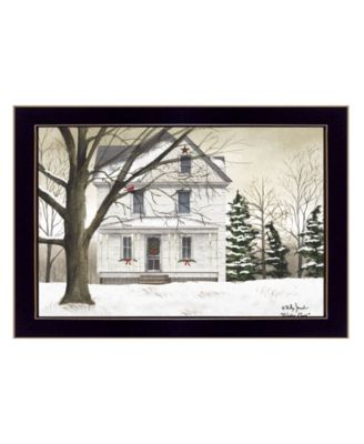 """Winter Porch By Billy Jacobs, Printed Wall Art, Ready to hang, Black Frame, 18"""" x 14"""""""