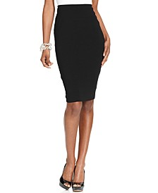 Stretch-Knit Pencil Skirt, Created for Macy's