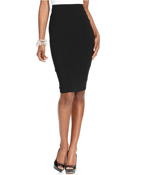Vince Camuto Stretch-Knit Pencil Skirt, Created for Macy's