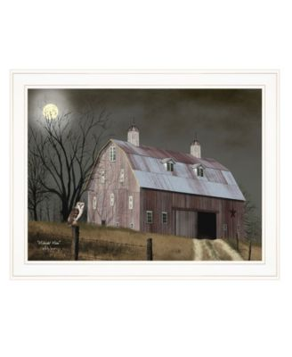 """Midnight Moon by Billy Jacobs, Ready to hang Framed Print, White Frame, 27"""" x 21"""""""
