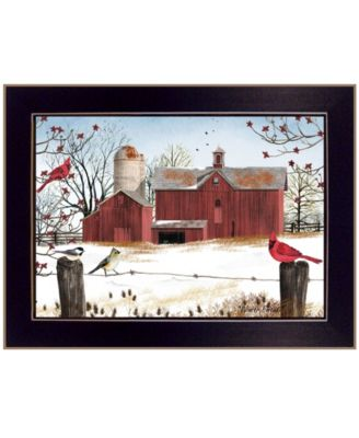 """Winter Friends by Billy Jacobs, Ready to hang Framed Print, Black Frame, 18"""" x 14"""""""