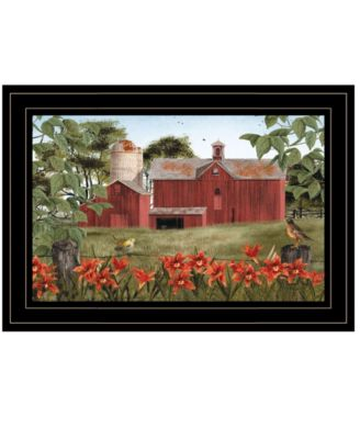 """Summer Days by Billy Jacobs, Ready to hang Framed Print, Black Frame, 15"""" x 11"""""""