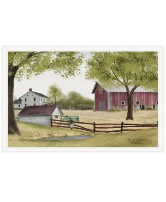 """The Old Spring House by Billy Jacobs, Ready to hang Framed Print, White Frame, 38"""" x 26"""""""