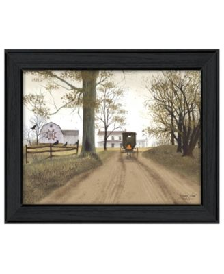 """Headin' Home By Billy Jacobs, Printed Wall Art, Ready to hang, Black Frame, 27"""" x 21"""""""