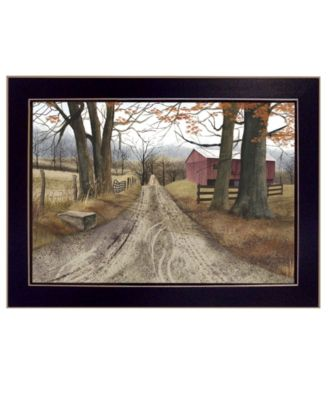 """The Road Home By Billy Jacobs, Printed Wall Art, Ready to hang, Black Frame, 14"""" x 10"""""""