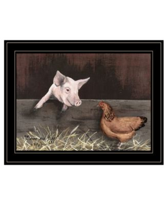 """Bacon Eggs by Billy Jacobs, Ready to hang Framed Print, Black Frame, 19"""" x 15"""""""