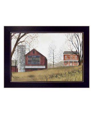 """Mail Pouch Barn By Billy Jacobs, Printed Wall Art, Ready to hang, Black Frame, 18"""" x 14"""""""