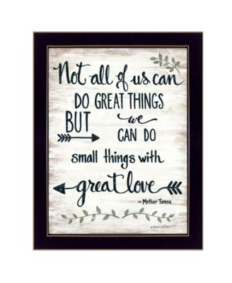 Great Love by Annie LaPoint, Ready to hang Framed Print, Black Frame, 14