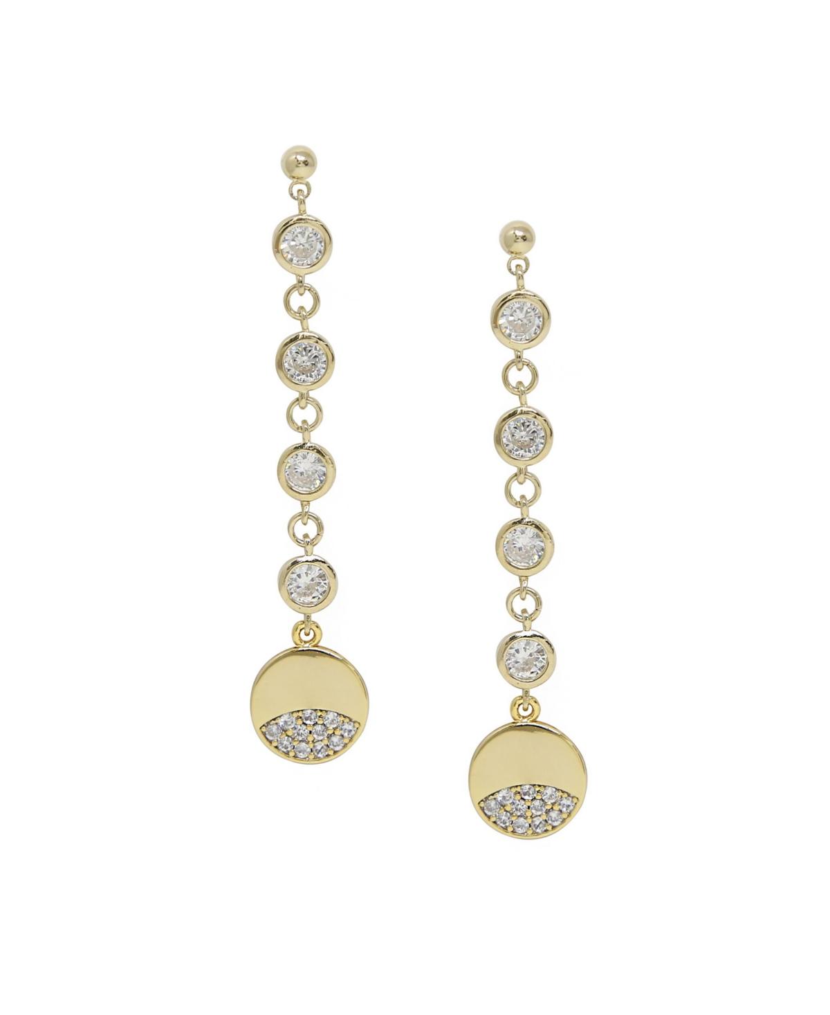 Ettika Dangle Dipped Gold and Crystal Earrings