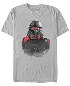 Men's Jedi Fallen Order Purge Trooper Portrait Sketch T-shirt