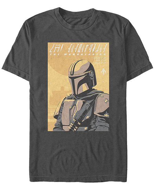 Star Wars Men's Mandalorian Artsy Poster T-shirt