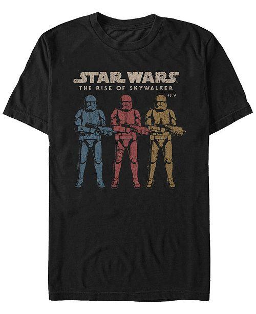 Star Wars Men's Episode IX Rise of Skywalker Rainbow Troopers T-shirt