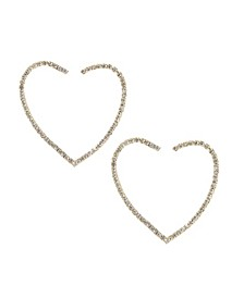 Open Your Heart Crystal Hoop Earrings