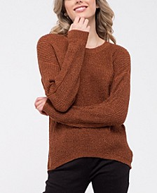 Back-Keyhole Knit Sweater