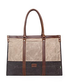 Stone Creek Waxed Canvas Tote Bag