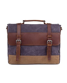 Stone Creek Waxed Canvas Briefcase