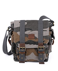 Camo Canvas Crossbody Bag