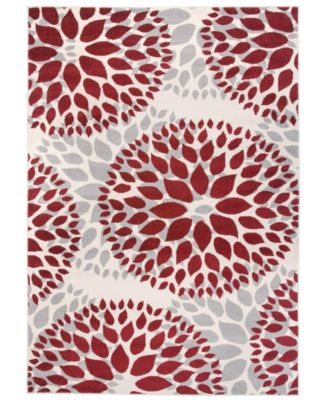 Home Haven Hav9099 Red 5' x 7' Area Rug