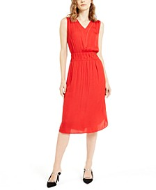 Petite Smocked-Waist Fit & Flare Dress, Created For Macy's
