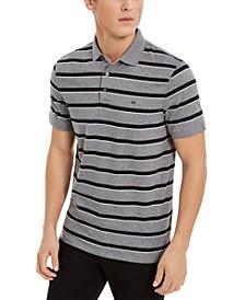 Men's Liquid Cotton Slim-Fit Stripe Polo Shirt
