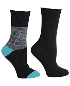 Womens 2 Pack Super Soft Lurex & Colorblock Boot Sock, Online Only