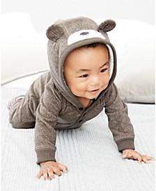 Baby Boys Bear Fleece Coverall