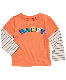 Baby Boys Happy-Print Layered-Look T-Shirt, Created for Macy's