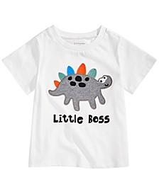 Baby Boys Little Boss Dinosaur-Print Cotton T-Shirt, Created For Macy's