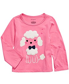 Toddler Girls Cotton Long-Sleeve Poodle T-Shirt, Created For Macy's