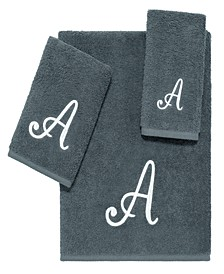 Grey Script Monogram 3-Pc. Towel Set
