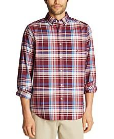 Men's Big & Tall Classic-Fit Poplin Plaid Shirt