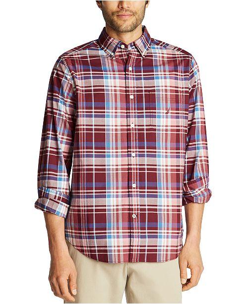 Nautica Men's Big & Tall Classic-Fit Poplin Plaid Shirt