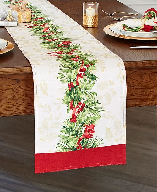 Elrene Holly Traditions Holiday Table Runner