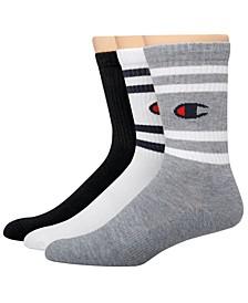 Men's 3-Pk. Logo Crew Socks
