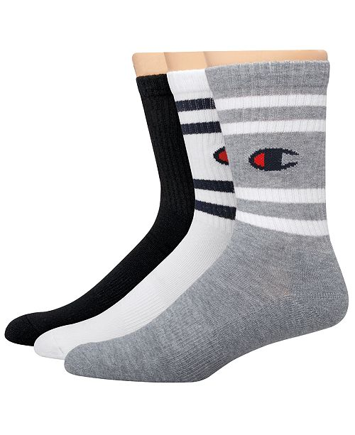 Champion Men's 3-Pk. Logo Crew Socks