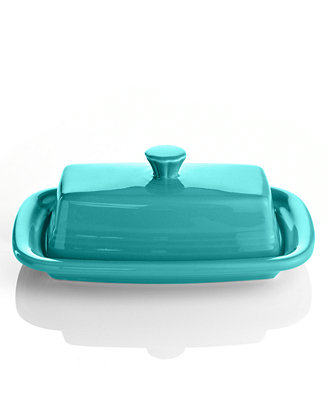 Fiesta Turquoise Xl Covered Butter Dish Serveware